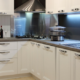 Modern cream coloured kitchen