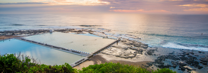 Merwether Baths at Sunrise, Newcastle, Australia